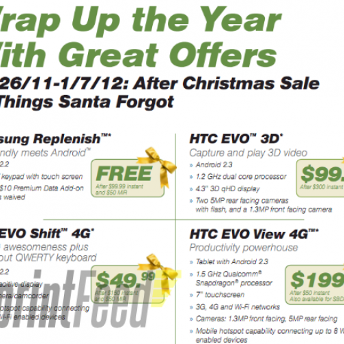 "Sprint wants first dibs on that Christmas money, ""After Christmas Sale"" revealed"
