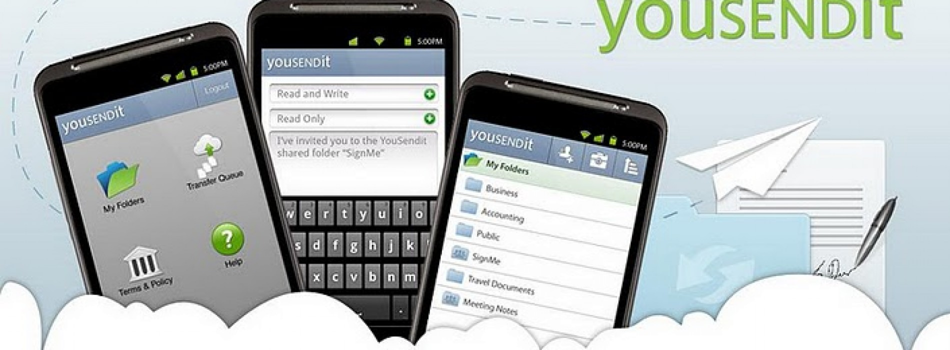 YouSendIt application hits Android Market, full of handy features