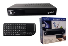 259099 The Supersonic Inc Electronics SC 66G 250 Android Powered Set Top Box Features A Wireless Full Size Keyboard And Wi Fi