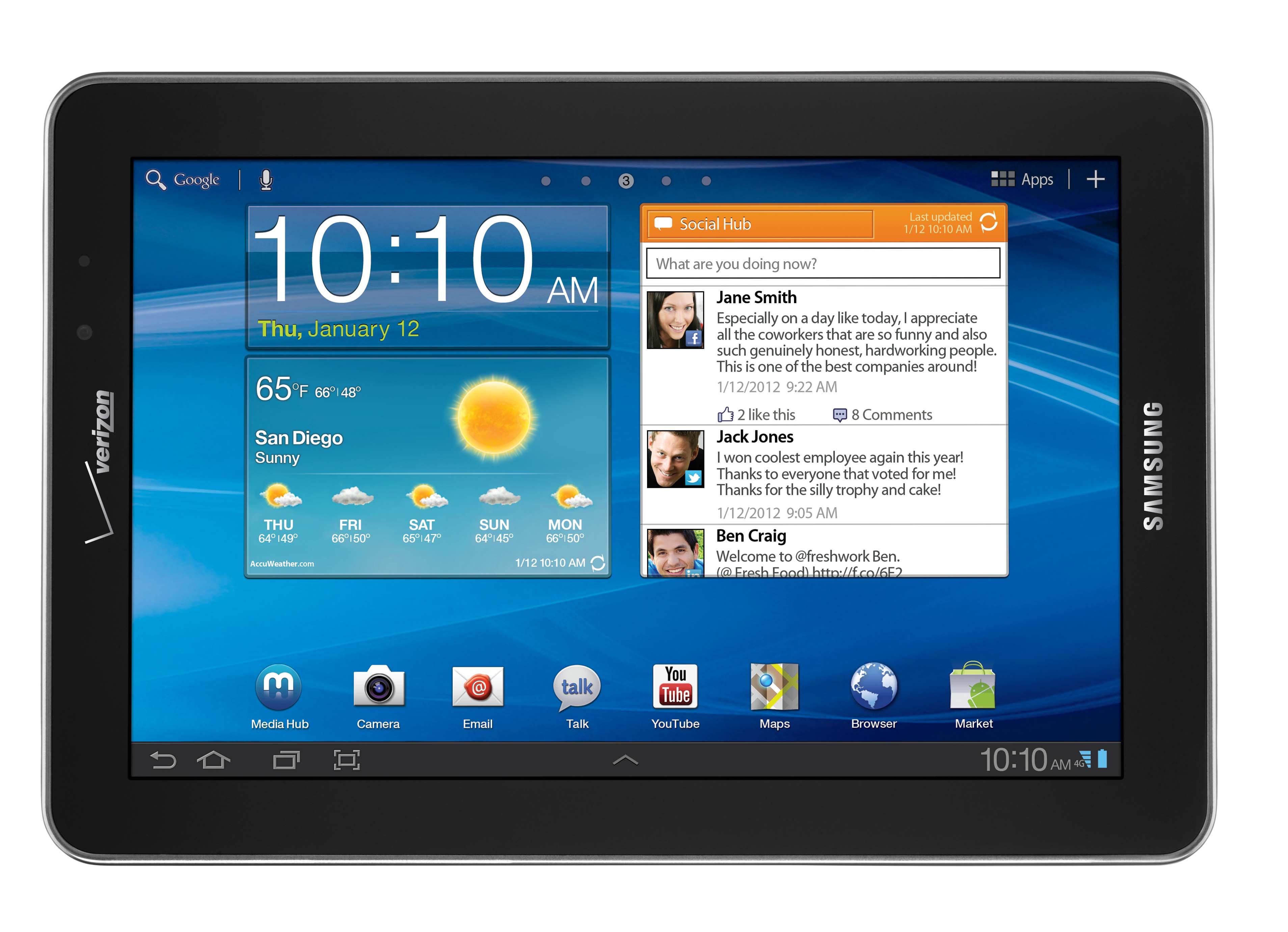 Verizon Announces Worlds Thinnest 4G LTE Tablet