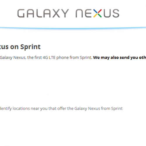 Registration Open for Sprint Galaxy Nexus