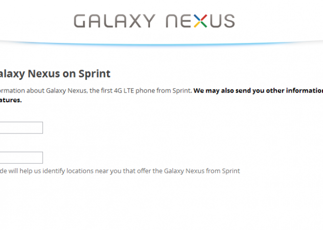 Galaxy Nexus for Sprint