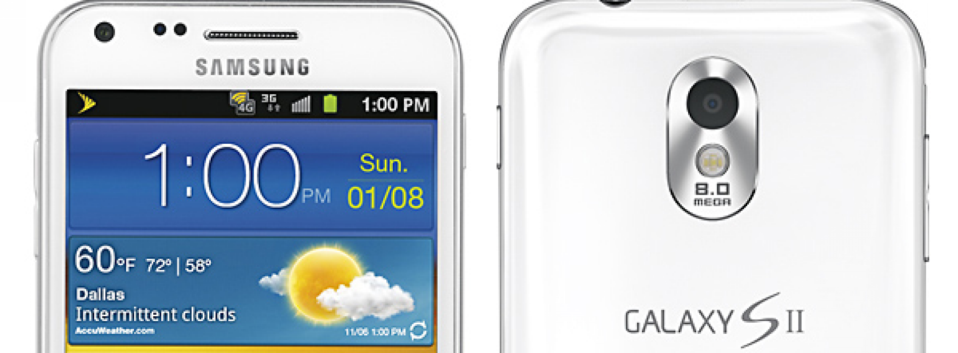 Sprint and Samsung announce white Epic 4G Touch for January 8