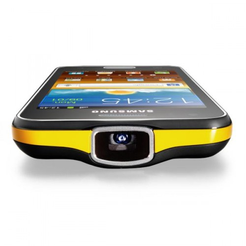 Samsung Mobile Twitter outs the Galaxy Beam. the smartphone with a projector