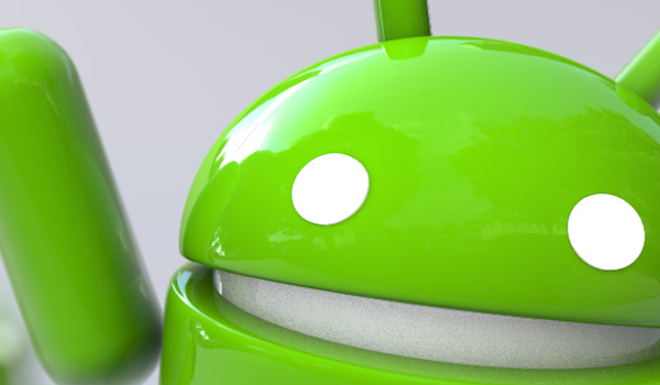 Closeup Waving Android Eye Feature