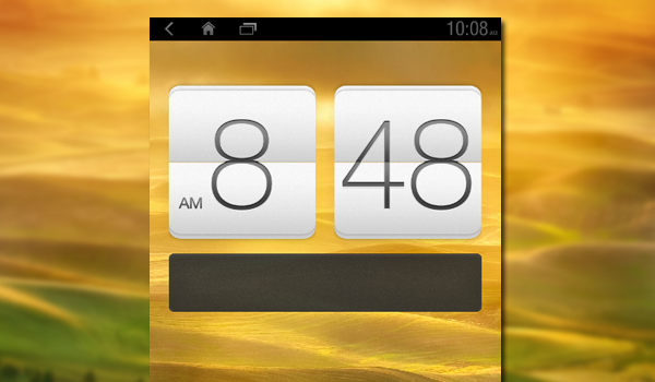 Htc Sense 4 Wall Blur Clock Feature