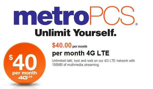 MetroPCS Logo 40 Rateplan Feature
