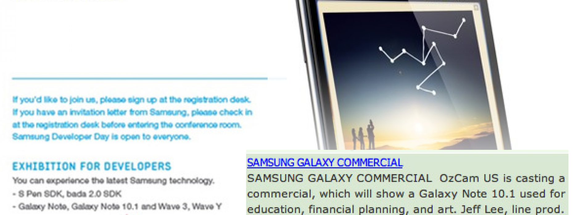 Is Samsung to unveil Galaxy Note 10.1 at Mobile World Congress?