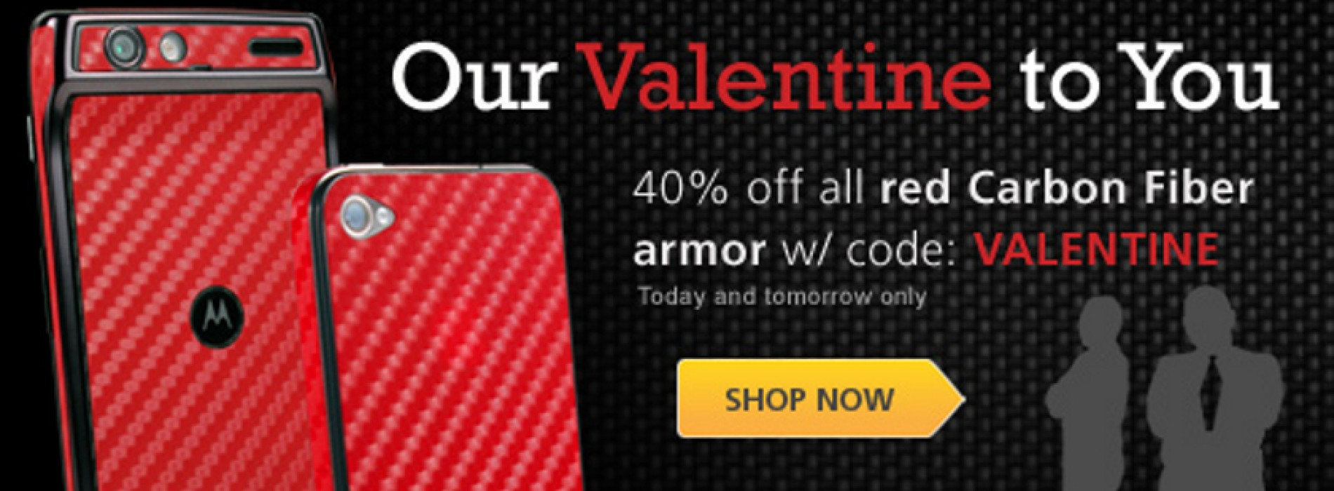 BodyGuardz Red Carbon Fiber Armor 40% Off for Valentine's Day