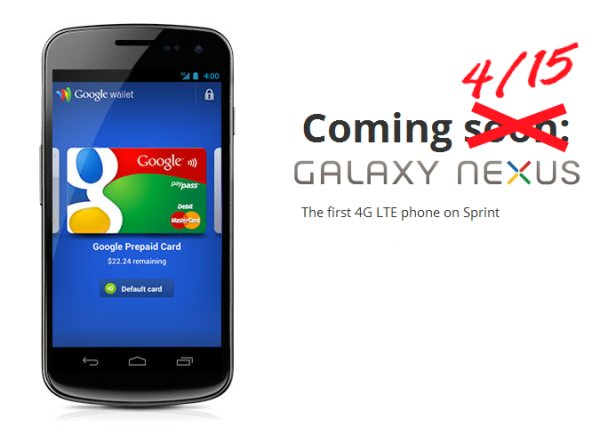Sprint Galaxy Nexus confirmed for April 15th?