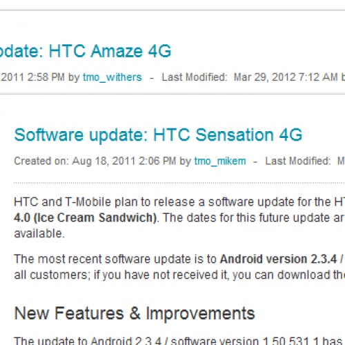 T-Mobile making noise around Android 4.0 updates for Sensation 4G, Amaze 4G