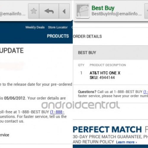 Best Buy emails out May 6 launch date for HTC One X (AT&T)