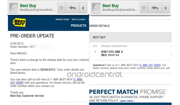 Best Buy Leaked Htc One X Date Feature