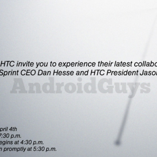 "Sprint, HTC announce April 4 event to discuss ""latest collaboration"""