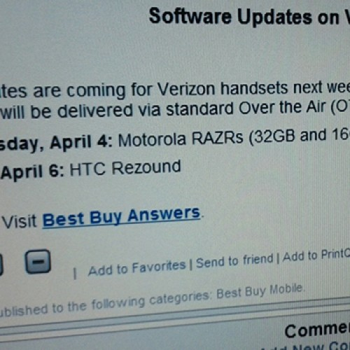 Best Buy leak reveals ICS updates for 3 Android phones on Verizon