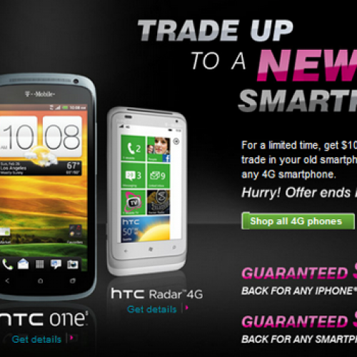 T-Mobile offering $50–$200 guaranteed trade-in credit toward 4G handset