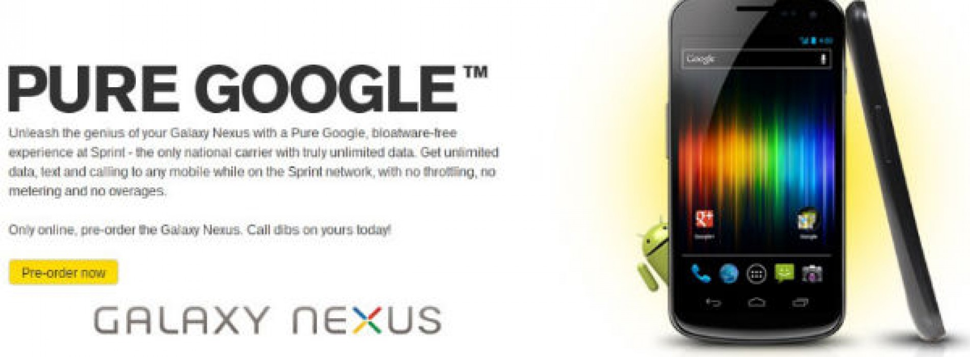 Sprint officially taps Galaxy Nexus for April 22