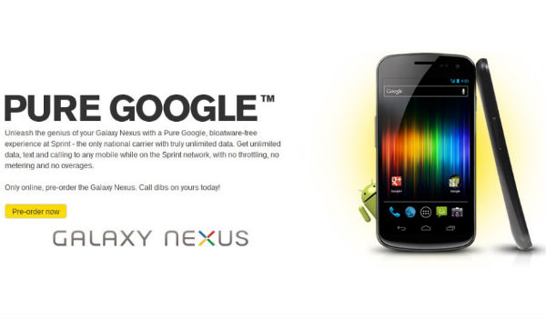 Pure Google Galaxynexus Feature