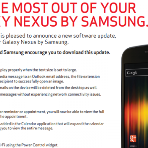Android 4.0.4 approved for Verizon's Galaxy Nexus