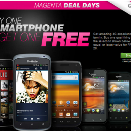 T-Mobile offers BOGO on select 4G smartphones starting today