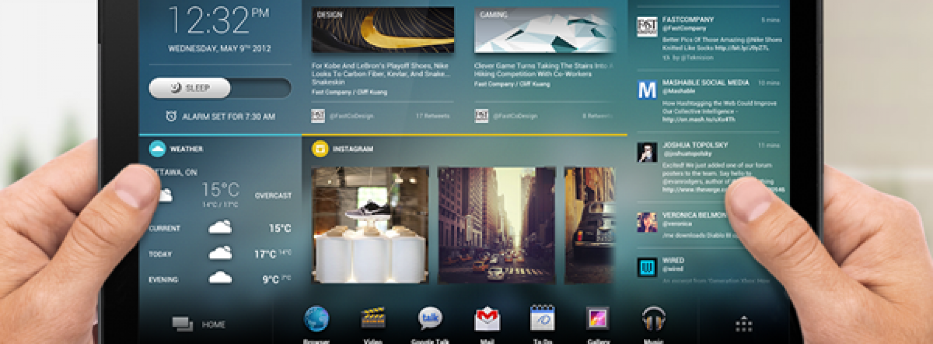 The future of Android tablet home screens looks like this…