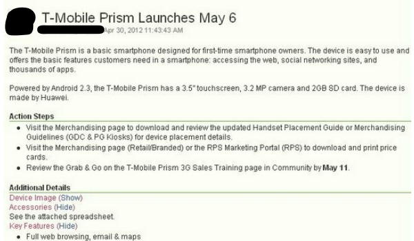 Details Tmo Prism3g Feature