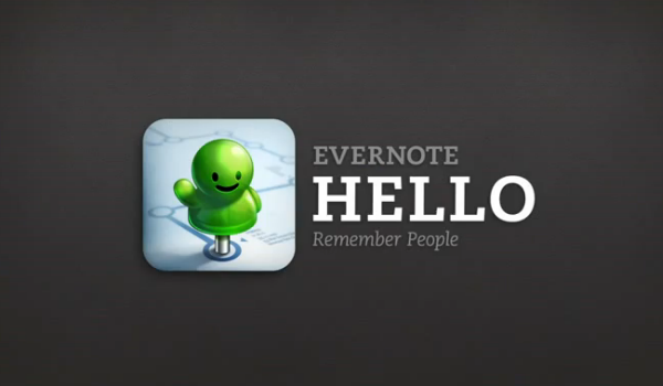 Evernote Hello Feature