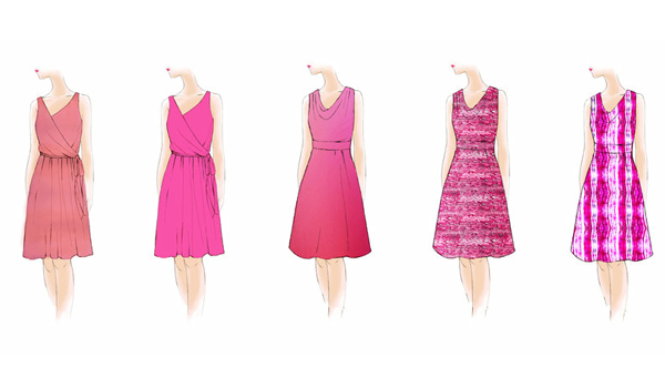 Magenta Days Dress Feature