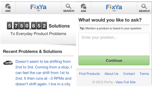 Fixya Html5 Feature