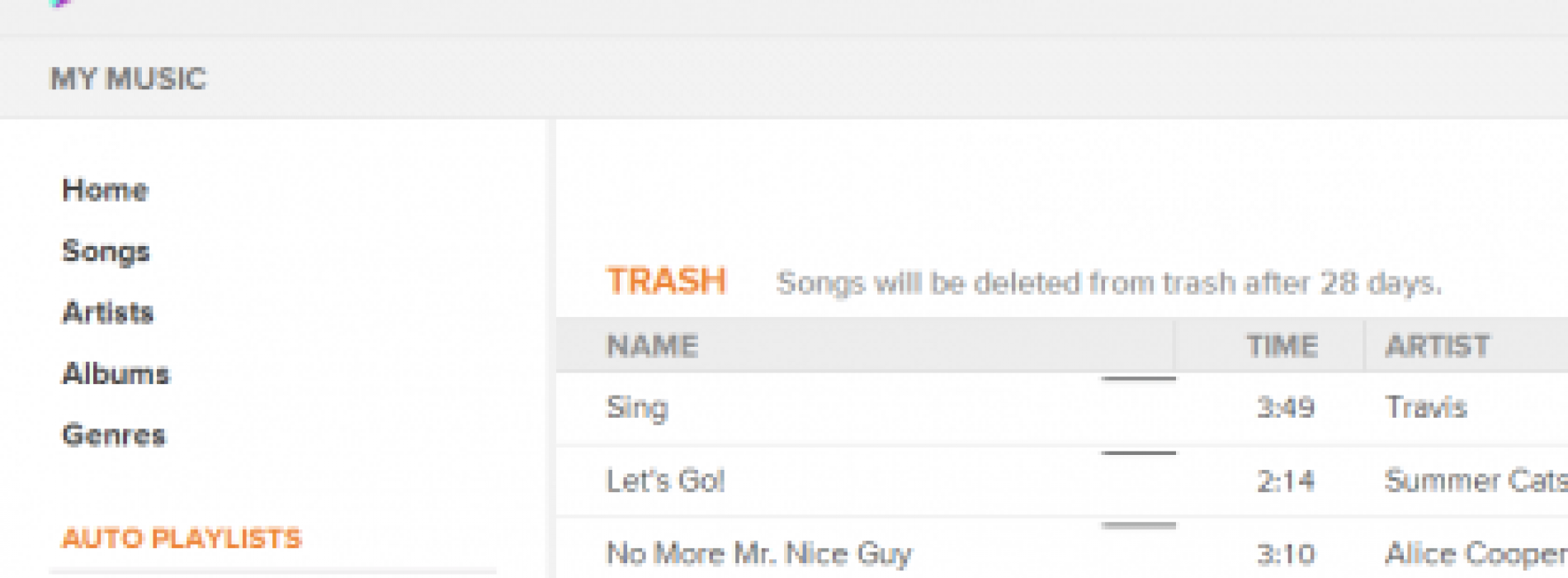 Google Music now keeps trashed tracks, allows you to undelete for 28 days