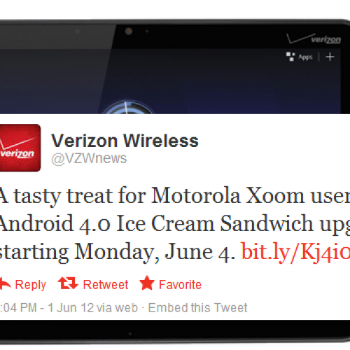 Verizon to scoop Ice Cream Sandwich for Xoom 3G/4G on June 4