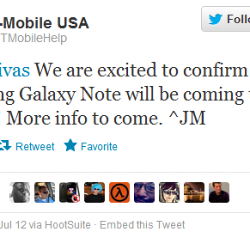 T-Mobile officially confirms Galaxy Note, more details in coming weeks