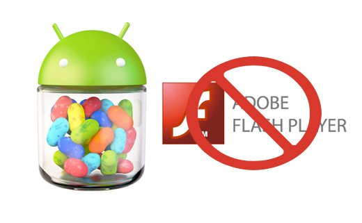 Android Jelly Bean Logo No Flash Player