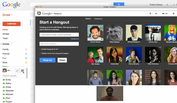 Google Hangout Gmail Feature