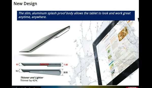 Sony Xperia Tablet Leak Feature