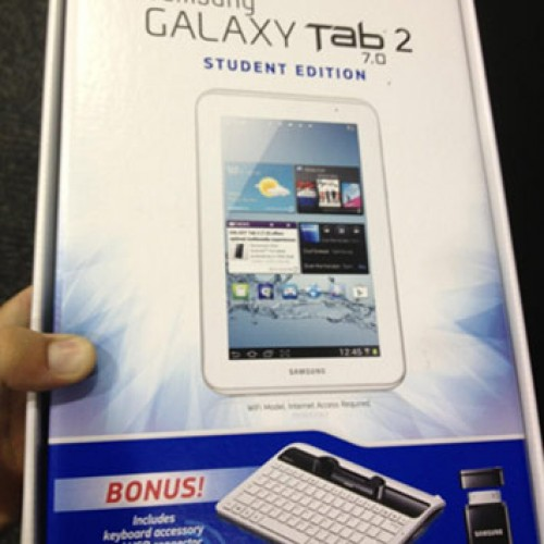 Samsung officially announces Galaxy Tab 2 7.0 Student Edition