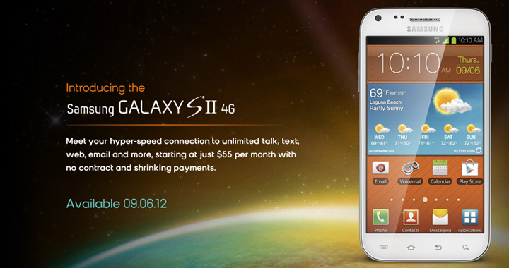 Boost Galaxy S II 4g 720w