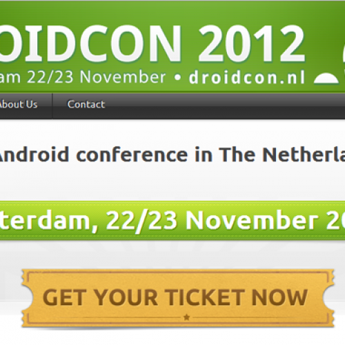 Going to Droidcon?  Take 25% off admission with AndroidGuys discount