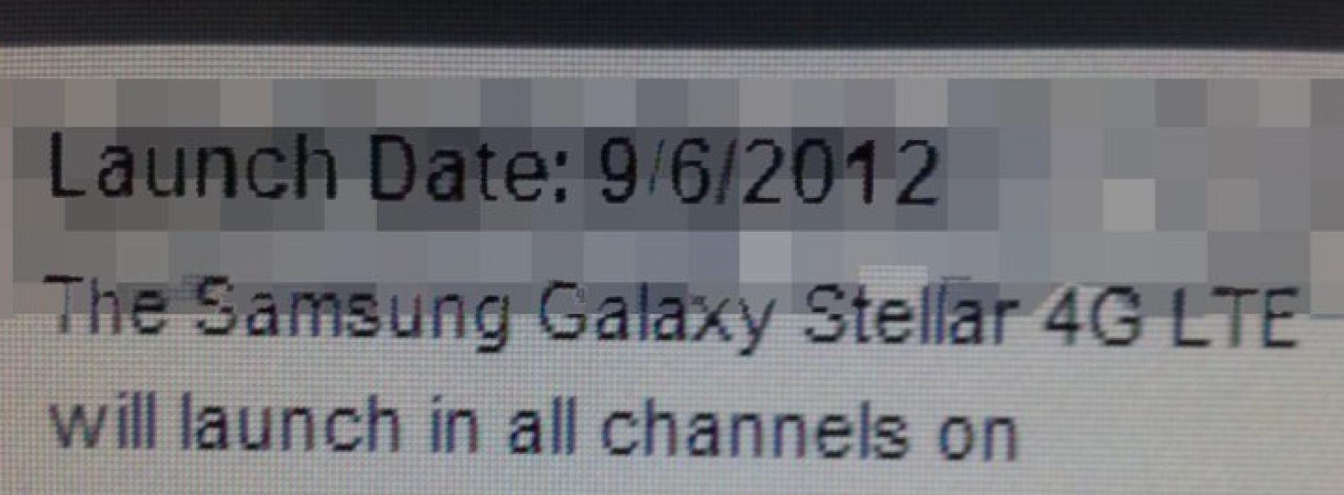 Verizon's Samsung Galaxy Stellar looks good for September 6 debut