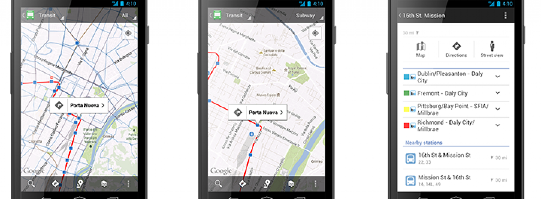 Public transit schedules for Google Maps reaches one million
