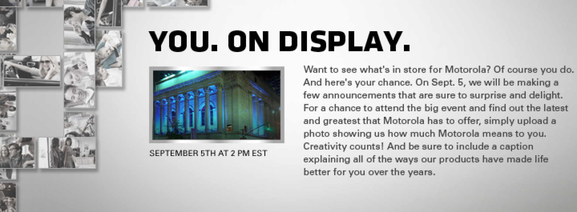Motorola wants YOU to attend the September 5 event!
