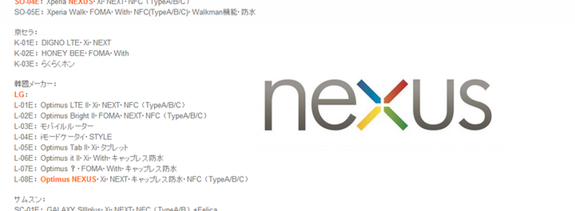 Xperia Nexus and Optimus Nexus tossed into rumor mill