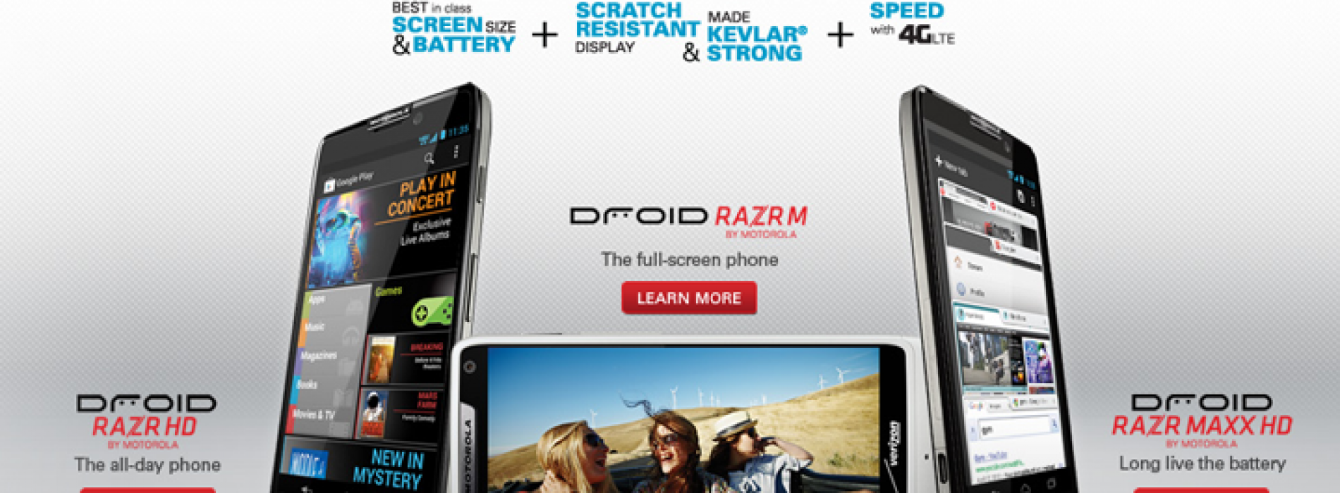 Motorola officially debuts the Droid Razr HD, Droid Razr Maxx HD