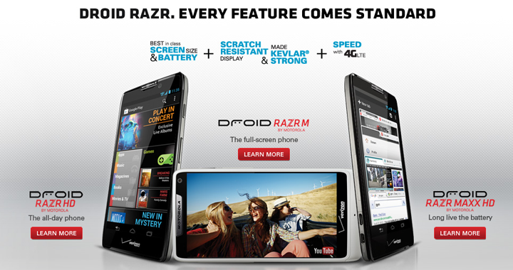 Droid Razr Family 720w