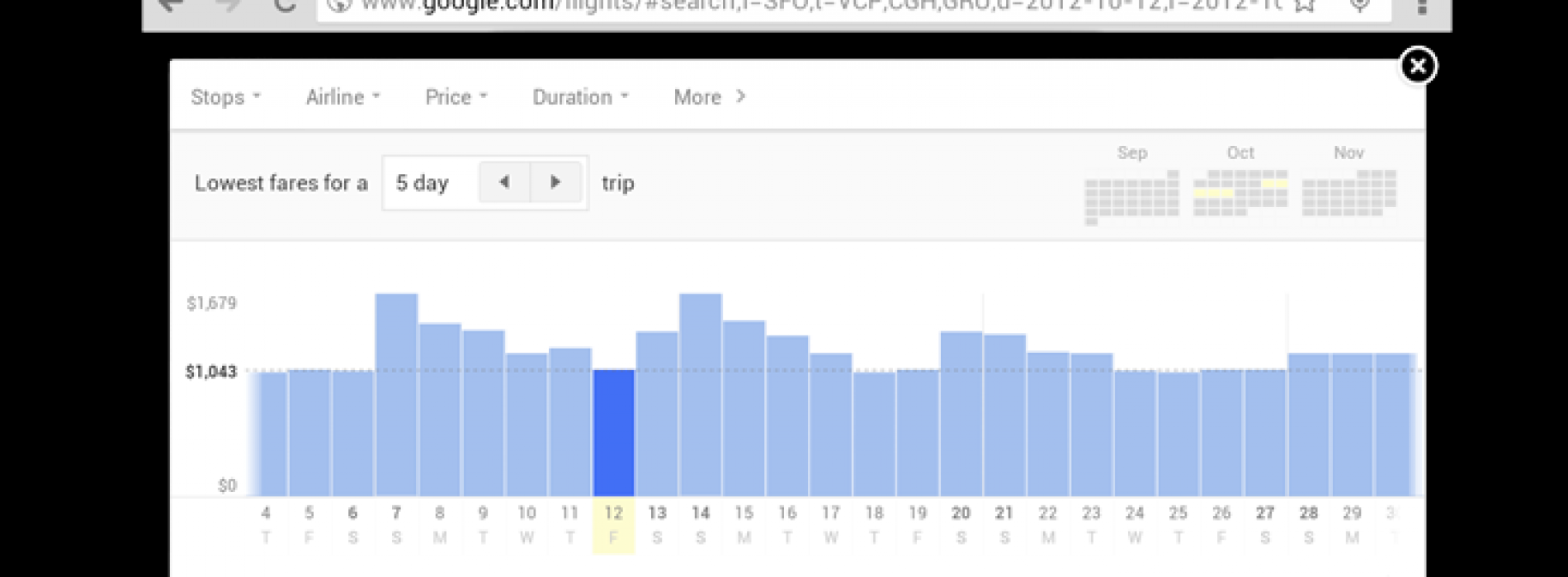 Google optimizes Flight Search for tablets