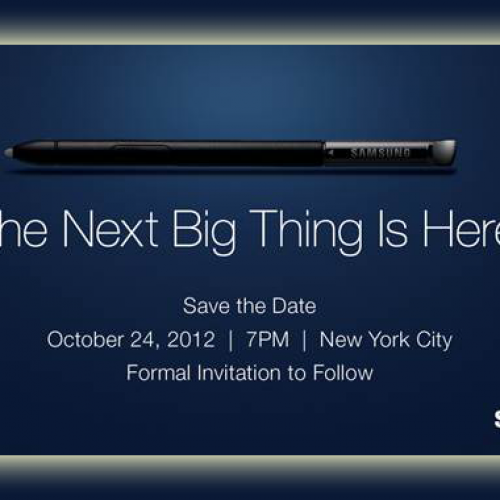 Samsung holding another event on October 24
