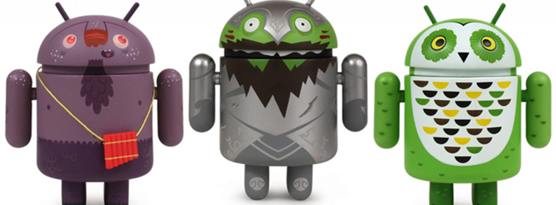 Dyzplastic intros Series 3's Pandroid, Sir Knightly Bild, and Whoogle the Owl