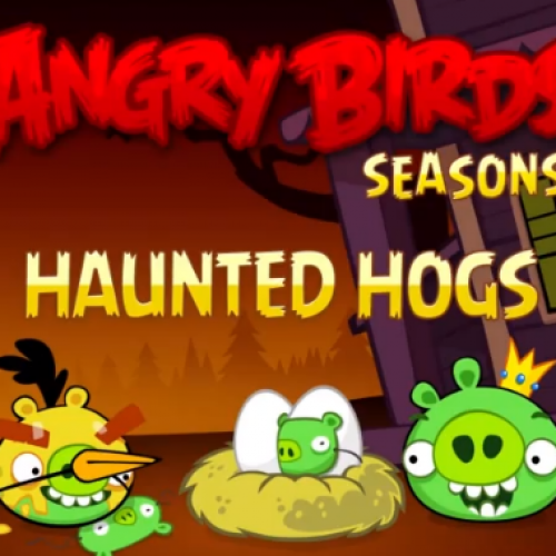 Angry Birds Seasons adds 30 levels, ghost bricks, more with Haunted Hogs update
