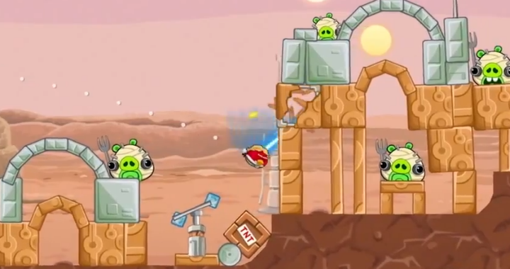 Angry Birds Star Wars Footage