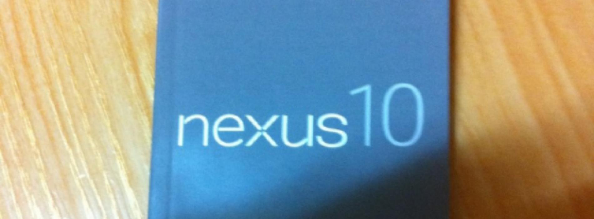 Samsung Nexus 10 user manual surfaces ahead of announcement